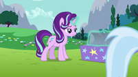 Starlight opening one of Trixie's trunks S6E6
