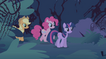 The ponies approach the castle S1E02