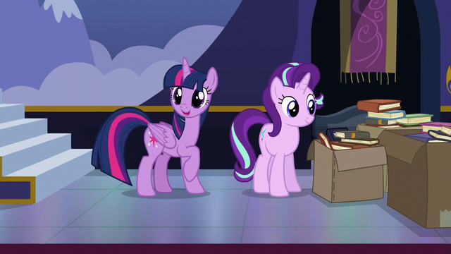 File:Twilight Sparkle calling out to Spike S6E25.png