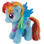 Rainbow Dash Tinsel Ty Beanie Baby