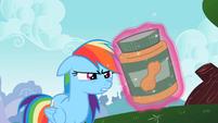 Rainbow Dash looks at the jar S2E08