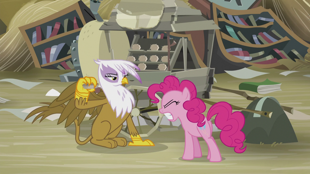 File:Gilda pulls away the scone before Pinkie bites it S5E8.png