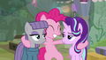 Pinkie joyful; Maud and Starlight annoyed S7E4.png