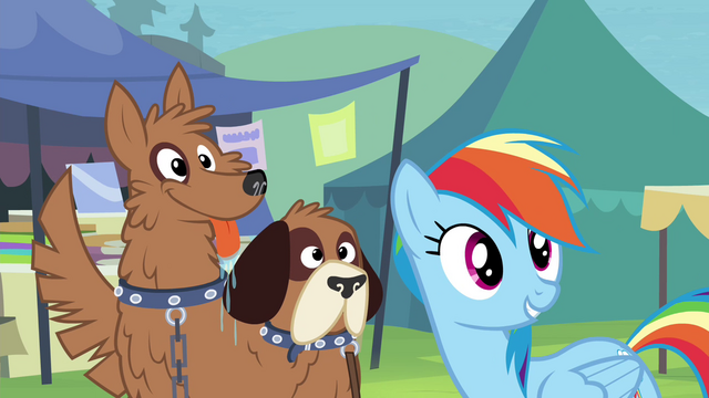 File:Rainbow Dash next to orthros S4E22.png