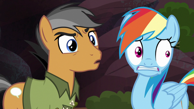 File:Rainbow and Quibble hear Caballeron's voice S6E13.png