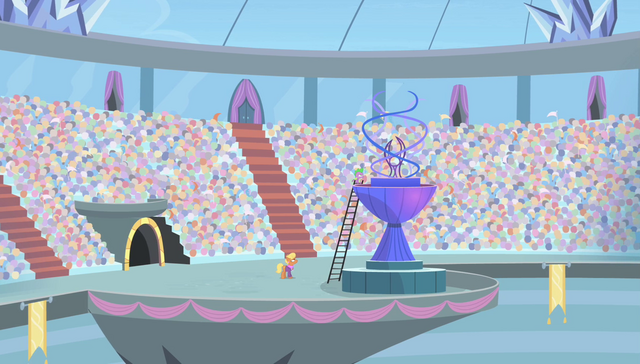 File:Spike and Ms. Harshwhinny on the torch platform S4E24.png