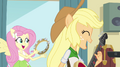 Applejack and Fluttershy singing Better Than Ever EG2.png