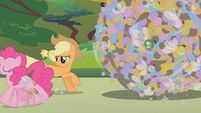 Applejack watches Pinkie gallop away S1E10