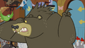 Harry the bear scared and pointing outside S4E01.png