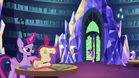 Starlight enters the castle library S6E1