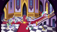 The Grand Galloping Gala entrance hall S5E7