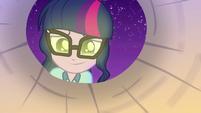 Twilight Sparkle smiling into her paper lantern EG4