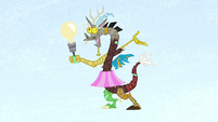 Discord lamp with blue background S4E22