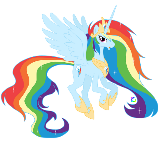 File:FANMADE Princess Rainbow Dash.png