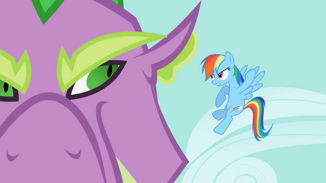 File:Rainbow Dash demands that Spike release Rarity S2E10.png