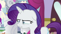 Rarity starts to get teary-eyed S7E6