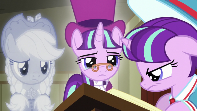 File:The Spirit of Hearth's Warming Past and Snowfall look at filly Snowfall S06E08.png