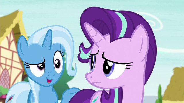 "File:Trixie says ""told you"" to Starlight Glimmer S6E25.png"