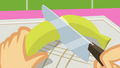 Applejack cutting a banana SS9.png