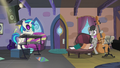 DJ Pon-3 behind her turntable S5E9.png