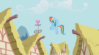 Rainbow Dash in the air S1E04