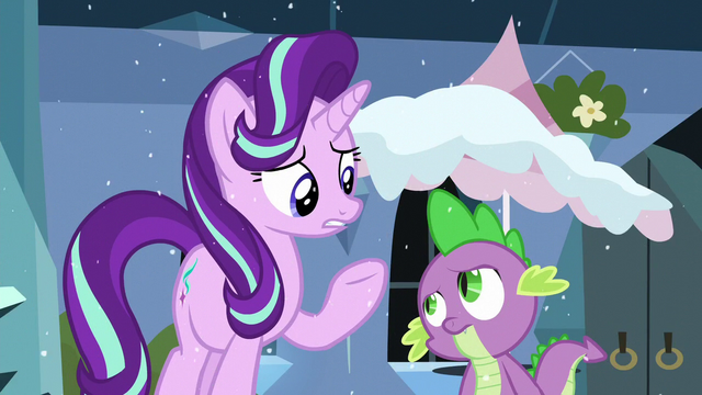 """File:Starlight """"was supposed to keep the cold weather out"""" S6E2.png"""