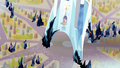 Crystal ponies looking up to tower S3E2.png