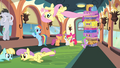 Fluttershy flying upside-down S4E24.png