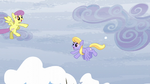Parasol and Cloud Kicker having a snowball fight S5E5