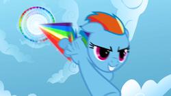 Rainbow Dash performing Sonic Rainboom S01E16.png