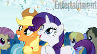 Applejack and Rarity watching the Breezies migration EW promo