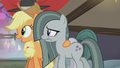 Applejack pulls Marble toward the flagpole S5E20.png