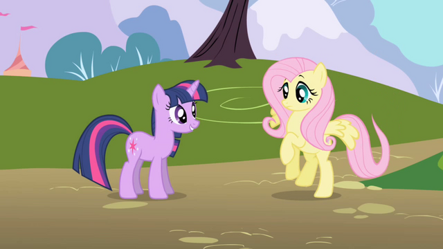 File:Fluttershy alights on the ground S1E11.png