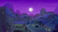 Moon shining over apple and pear farms S7E13