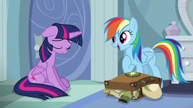 """File:Rainbow """"you and I know A. K. Yearling personally"""" S6E13.png"""