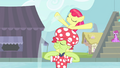 Apple Bloom spitting water out S4E20.png