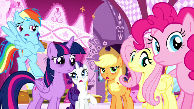 "File:Applejack, Rainbow, and Rarity ""we know!"" S5E13.png"