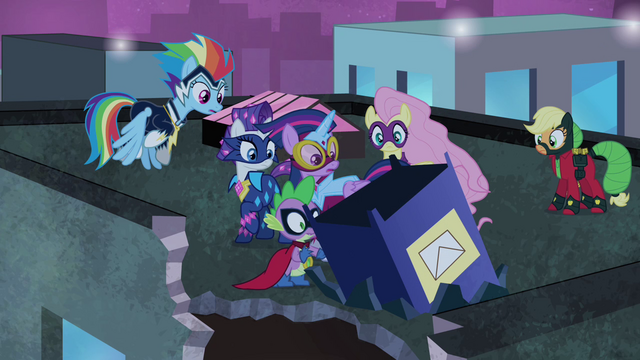 File:Power Ponies wonder where Pinkie went S4E06.png