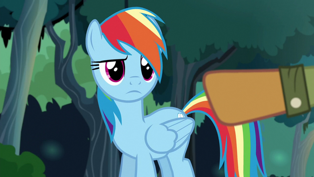 File:Quibble pointing his hoof at Rainbow Dash S6E13.png