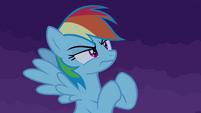 Rainbow Dash challenges castle S4E03
