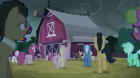 Zombie ponies approaching the barn S6E15