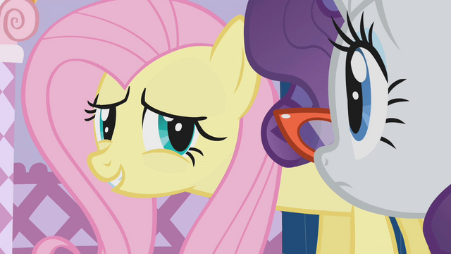 File:Fluttershy awkward smile S1E14.png