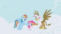 Rainbow Dash and Gilda DENIED S1E5