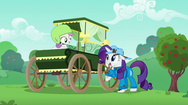 File:Sweetie Belle in a new traditional cart S6E14.png