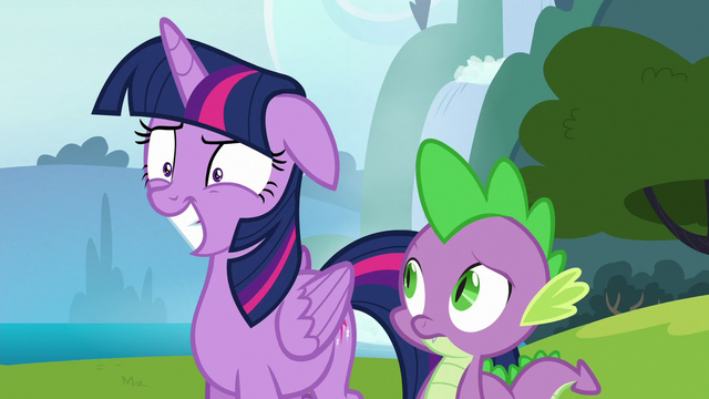 File:Twilight masking her intense annoyance with a grin S6E25.png