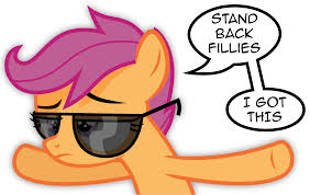 File:FANMADE Scootaloo with shades.jpg