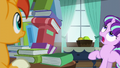 Filly Starlight sees book tower about to fall S5E26.png