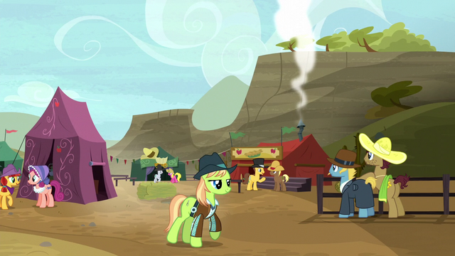 File:Ponies enjoying the Appleloosa rodeo S5E6.png