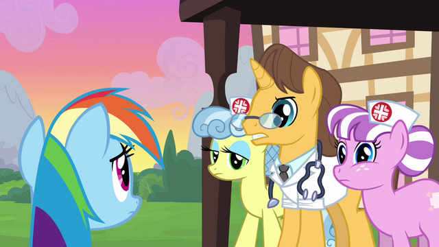 File:Rainbow Dash scolded by hospital staff S2E16.png