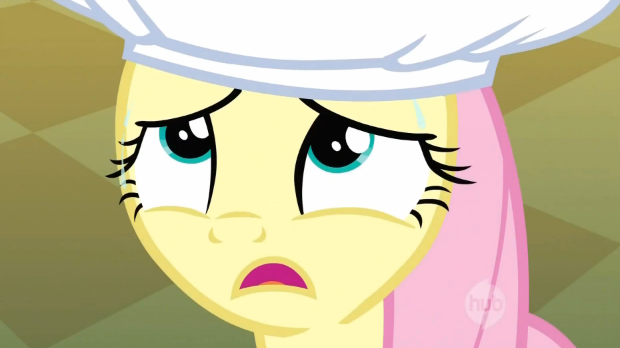 File:Fluttershy's reaction to cherries on her hat S2E14.png